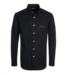 Balmain Black Logo Solid Shirt