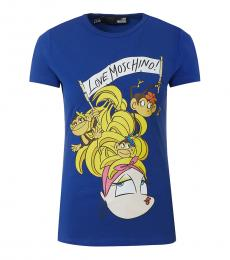 Blue Logo Crew Neck T-Shirt