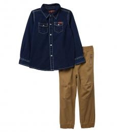 7 For All Mankind 2 Piece Shirt/Pants Set (Little Boys)
