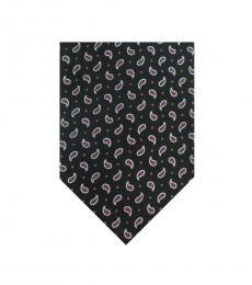 Black Dapper Paisley Silk Tie
