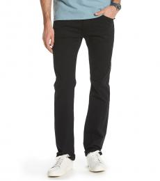 Black Matchbox Slim Fit Pants