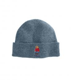 Ralph Lauren Grey Polo Bear Cuffed Beanie