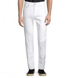Optic White Classic Buttoned Skinny Jeans