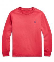 Ralph Lauren Little Boys Sunrise Red Crewneck T-Shirt