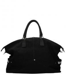 Black Side Logo Large Duffle Bag