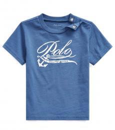 Ralph Lauren Baby Boys Federal Blue Graphic T-Shirt