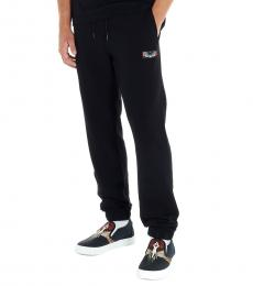 Black Patch Wings Joggers