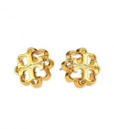 Tory Burch Gold Flower Stud Earrings Gold