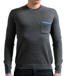 Grey Crewneck Pullover Sweater