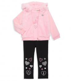 3 Piece Jacket/Top/Leggings Set (Baby Girls)