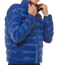 Michael Kors Twilight Blue Tech Puffer Jacket