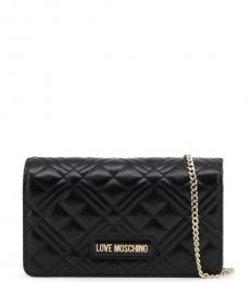 Love Moschino Black Quilted Chain Small Crossbody