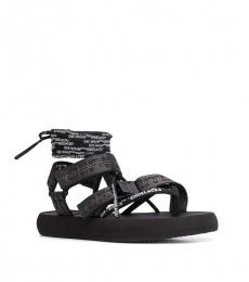 Off-White Black Multistrap Floaters