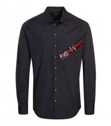 Black Logo Solid Shirt