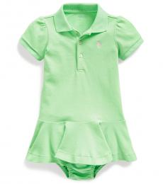 Baby Girls New Lime Pique Polo Dress