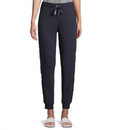 Karl Lagerfeld Navy Blue Tapered Logo Jogging Pants