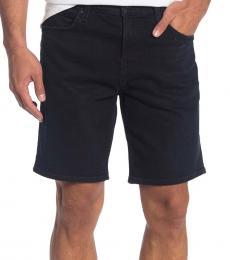 Navy Blue Straight Shorts