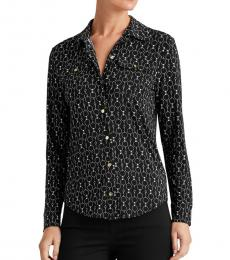 Polo Black Relaxed-Fit Graphic Shirt
