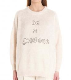Brunello Cucinelli White Monili Detail Sweater