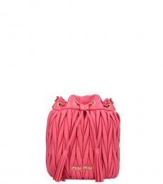 Miu Miu Fuchsia Matelasse Mini Bucket Bag