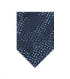 Calvin Klein Blue Leopard Outline Tie