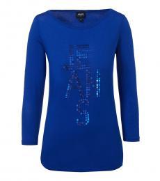 Armani Jeans Blue Classic Logo T-Shirt