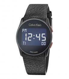 Calvin Klein Black Logo Future Digital Watch