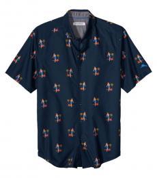 Navy Blue Core Hula Oasis Shirt