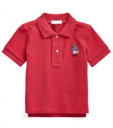 Baby Boys Sunrise Red Beach Bear Polo