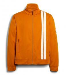 Deep Clementine Stripe Track Jacket