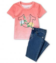 True Religion 2 Piece T-Shirt/Jeans Set (Little Girls)