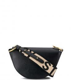 Stella McCartney Black Logo Saddle Mini Shoulder Bag