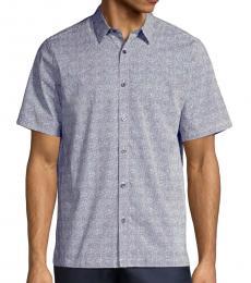 Blue Irving Lumen Print Shirt