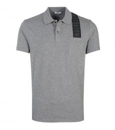 Bikkembergs Grey Logo Shoulder Polo