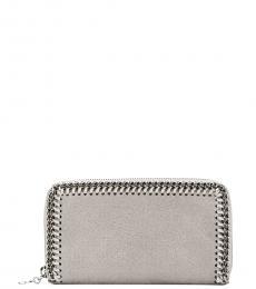 Stella McCartney Grey Falabella Zip Around Wallet