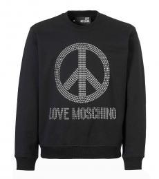 Love Moschino Black Studded Logo Sweatshirt