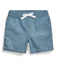 Ralph Lauren Baby Boys Chambray Pull-On Shorts