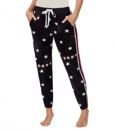 DKNY Black Star-Print Pajama Pants