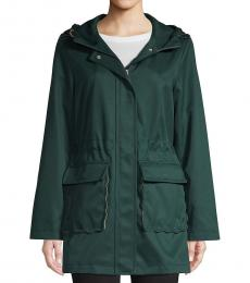 Kate Spade Deep Pine Hooded Trench Coat