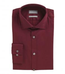 Cherry Slim Fit Stretch Dress Shirt