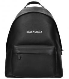 Balenciaga Black Logo Pocket Large Backpack