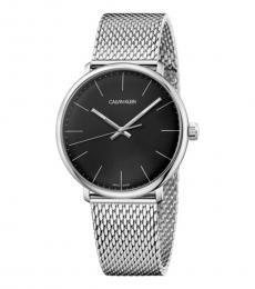 Calvin Klein Silver-Black High Noon Watch
