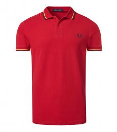 Fred Perry Red Logo Patch Polo