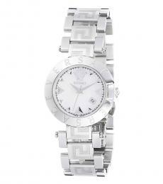 Silver White Dial Watch