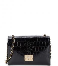 Mario Valentino Black Isebelle Medium Shoulder Bag