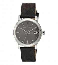 Burberry Grey Dial Logo Watch