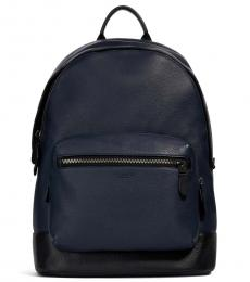Coach Midnight Navy West Large Backpack