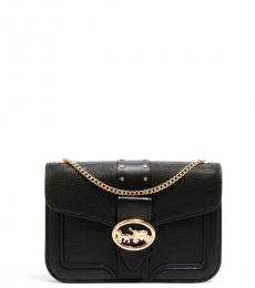 Coach Black Georgie Small Shoulder Bag