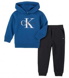 Calvin Klein 2 Piece Hoodie/Pants Set (Little Boys)