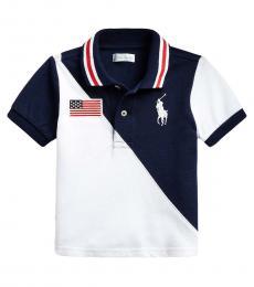 Ralph Lauren Baby Boys Newport Navy/White Big Pony Polo